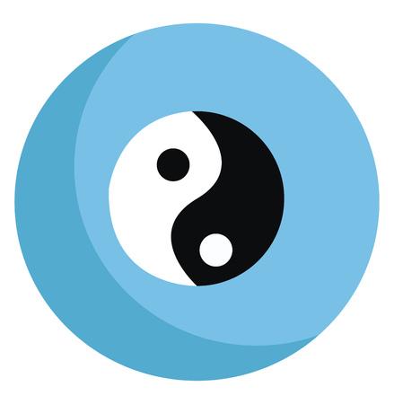 Un icono en diseño blanco y negro con esferas pequeñas de dos diagonales inscritas en un dibujo o ilustración de color vectorial de círculo grande