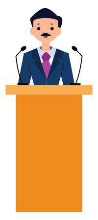 Politician character vector illustration on a white background