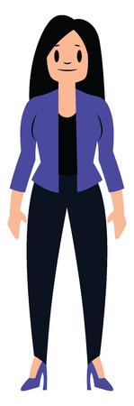 Female secretary character vector illustration on a white background