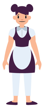 House keeper chacater simple vector illustration on a white background