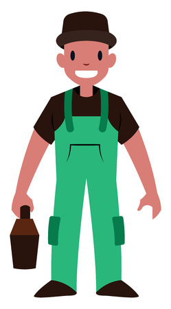 Male mechanic vector illustration on a white background