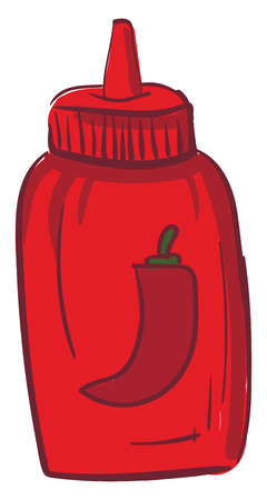 A sweet and tangy sauce that adds spices and flavors to recipes vector color drawing or illustration Illustration