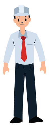 Engineer character vector illustration on a white background