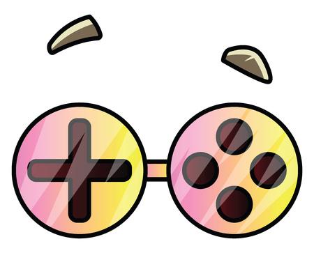 Goggles that are shaped like joystick illustration vector on white background Illusztráció