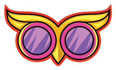 Owl goggles illustration vector on white background Stock fotó - 121159552