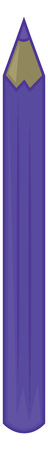 Painting of a purple-colored drawing pencil cylindrical in shape stands erect with a pointed end vector color drawing or illustration