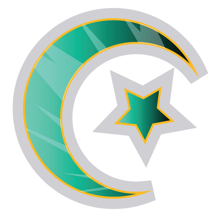 Colorful Muslim symbol of religion vector illustration on a white background