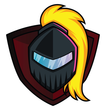 Mask of a warrior Gaming logo illustration vector on white background