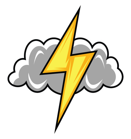 Thunderstorm logo for gaming illustration vector on white background Banco de Imagens - 120987958