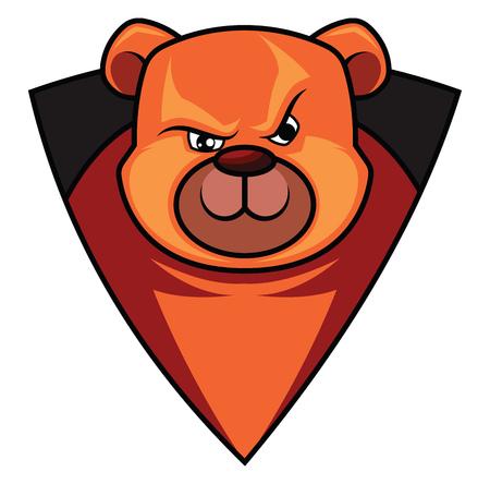 Gaming logo of a bear  illustration vector on white background Illusztráció