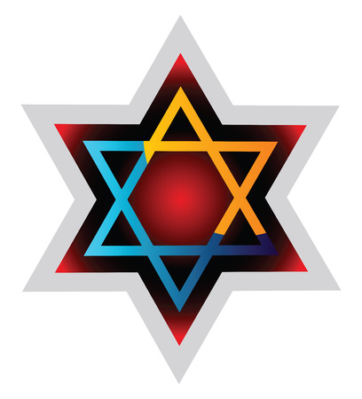 Judaism symol colorful vector illustration on a white background