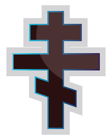 Vector illustration of a Russian Orthodox Cross on a white background