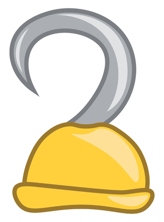 Clipart of a yellow-colored pirates hook that helps him to fetch water vector color drawing or illustration