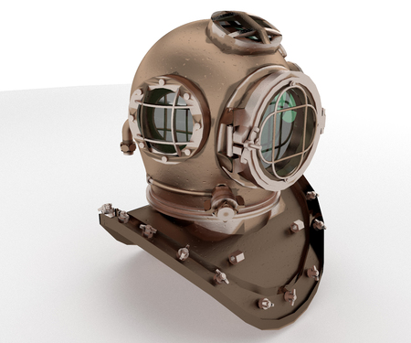 A diving mask is a diving equipment that allows underwater divers including scuba divers free-divers and snorkelers to see clearly underwater vector color drawing or illustration