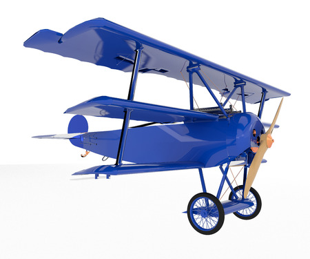 A toy airplane blue in color with two wheels is looking very attractive and playful vector color drawing or illustration