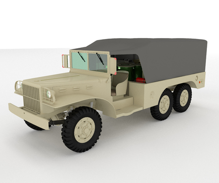 typically four-wheel drive vehicle for military use They are by definition lighter than other military trucks and vehicles vector color drawing or illustration