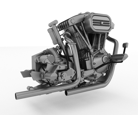 A single-cylinder engine is a basic piston engine configuration of an internal combustion engine It is often seen on motorcycles vector color drawing or illustration