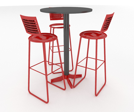 A table with chairs kept in café or hotel for customer to have some eatables vector color drawing or illustration Stock fotó
