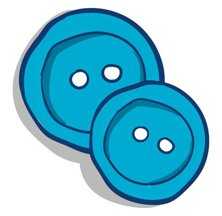 Two blue buttons vector illustration