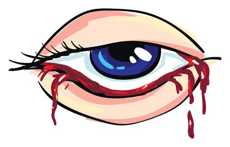 Bloody eye of a woman Vector illustration Illusztráció