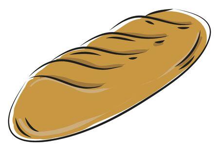 Fresh bread loaf vector illustration