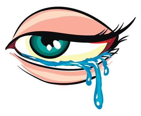 Illustration of a crying eye White background  Illusztráció