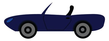 Navy cabriolet vector illustration  Ilustracja