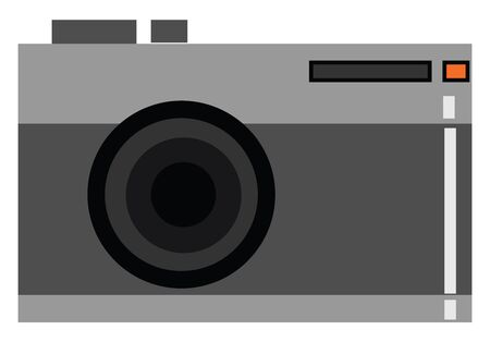 Vintage camera vector illustration