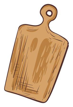 Wooden cutting board ector illustration