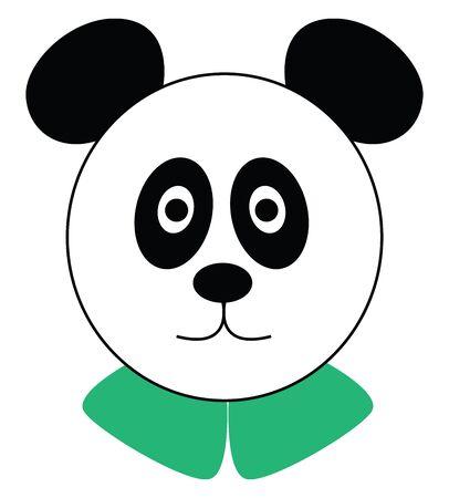 Panda illustration vector on white background