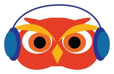 Owl in glasses illustration vector on white background