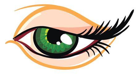 Beautiful green female eye Standard-Bild - 132661300