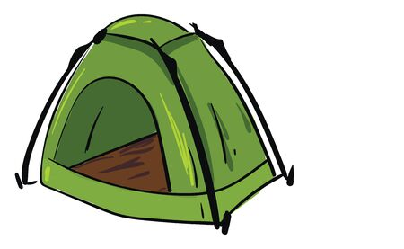 Green camping tent vector illustration Banque d'images - 132661495