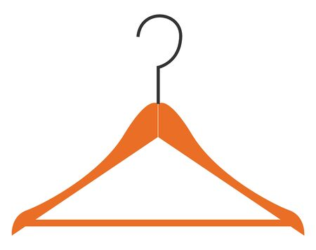Wooden hanger vector illustration  Illustration
