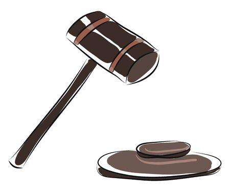 Judges hammer vector illustration  向量圖像