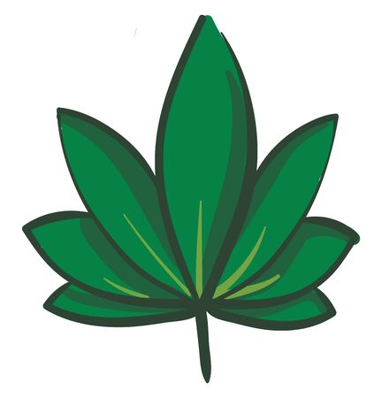 Big marijuana leaf illustration vector on white background