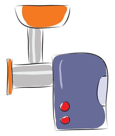 Blue meat grinder illustration vector on white background  Illusztráció