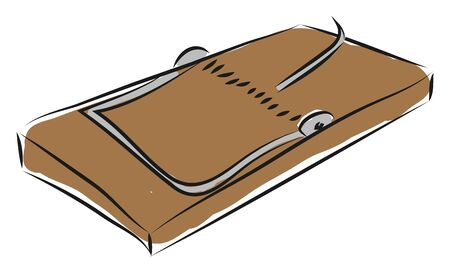 Brown mouse trap illustration vector on white background