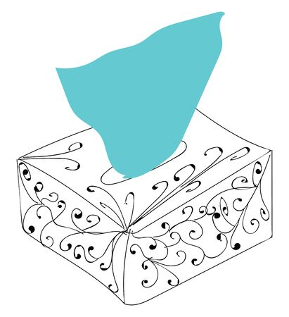 Paper napkins from the box illustration vector on white background