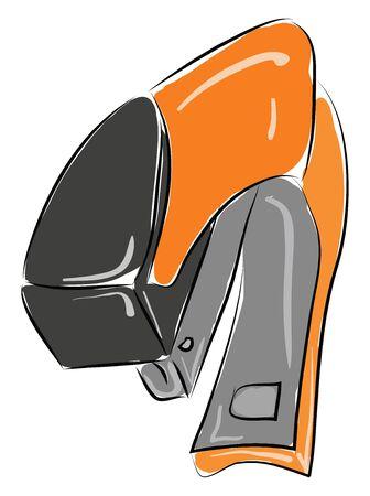 Orange stapler illustration vector on white background  Illustration