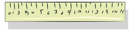 Ruler illustration vector on white background