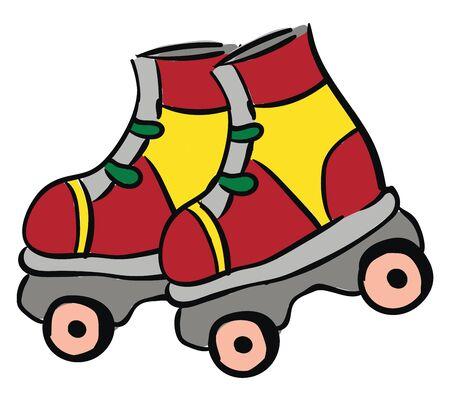 Roller Skates illustration vector on white background