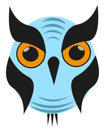 Blue owl illustration vector on white background  Çizim