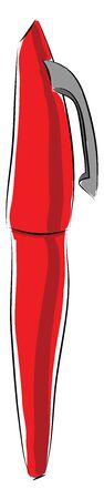Red pen illustration vector on white background  일러스트