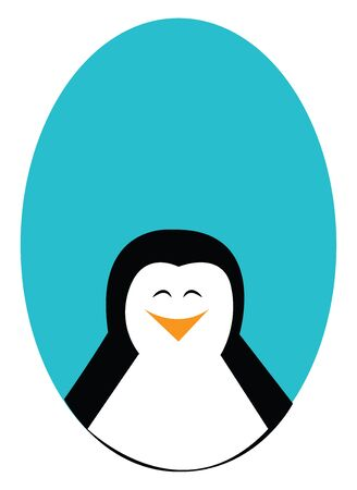Smiling penguin illustration vector on white background  Illusztráció