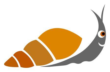Snail illustration vector on white background