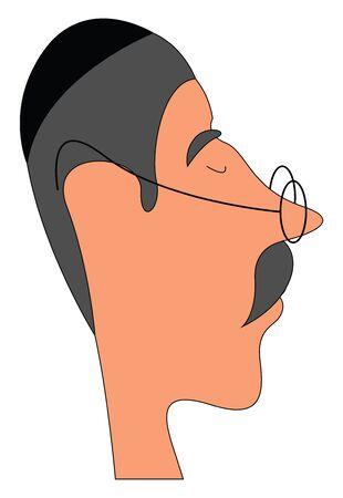 Rabbi illustration vector on white background