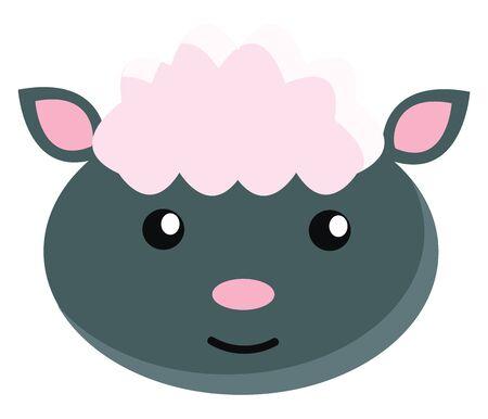 Sheep illustration vector on white background  向量圖像