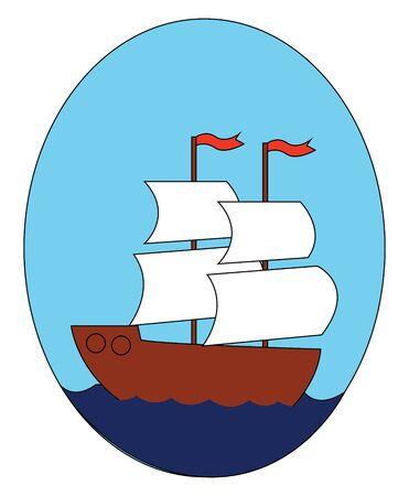 Ship illustration vector on white background