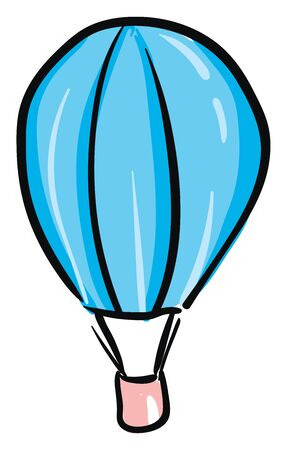 A big parachute which is flying high on a bright day vector color drawing or illustration